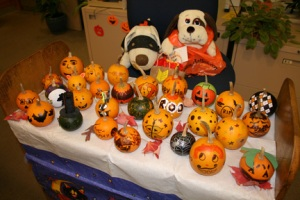 Student workers created fabulous pumpkin art this year!