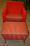 Red Chair Ottoman with sled legs