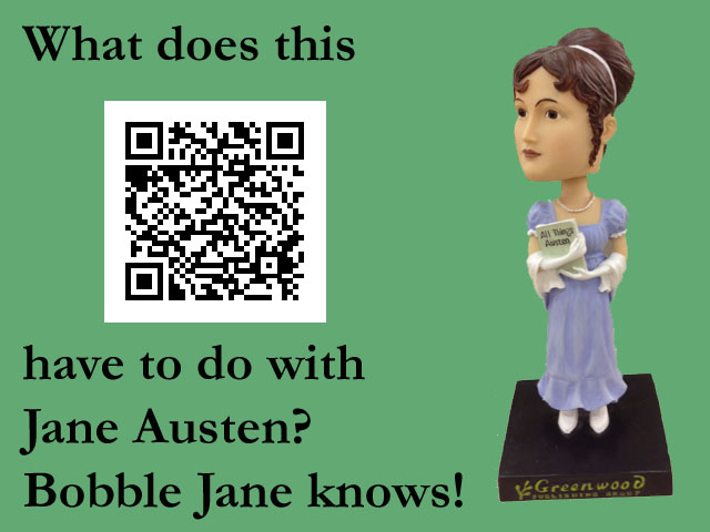 Bobblehead Jane Austen knows where the qrcode leads.  Do you?