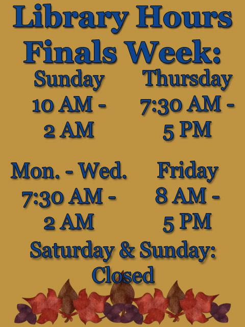 Finals Week F14