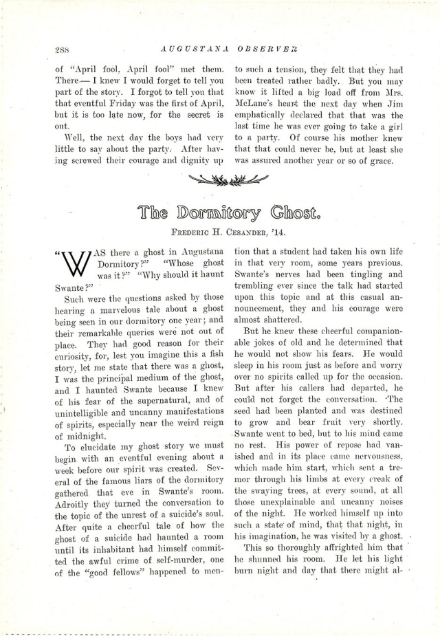 Dormitory Ghost article 1
