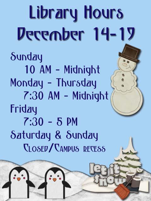 Christmas week 5 hours
