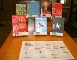 English language books that are bestsellers in other countries are featured in the display.