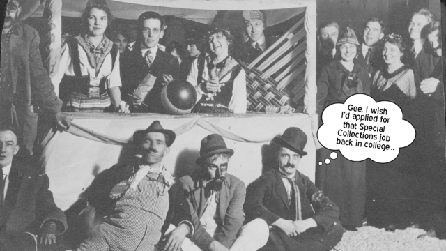 Augustana students at a carnival booth, 1916. Special Collections Photo C-L491