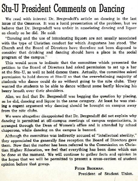Augustana Observer, 17 February 1949.